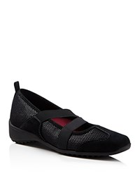 Munro American Munro Zip Slip On Sneakers Black Combo
