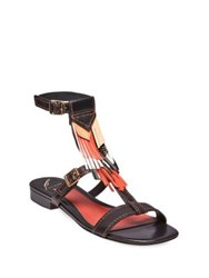 Brian Atwood B Megan Ankle Strap Sandals Rust