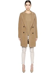 Max Mara 'S Double Breasted Alpaca And Wool Coat