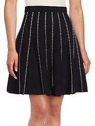 Saks Fifth Avenue Contrast Pleated Skirt Black Bleach