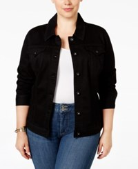 Styleandco. Style And Co. Plus Size Denim Jacket Only At Macy's Black Rinse