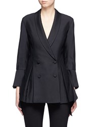 C Meo Collective We'll Be Alright' Double Breasted Flare Blazer Black