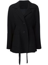 Tome Tie Back Tailored Blazer Black