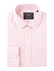 Howick Men's Tailored Albany Gingham Shirt Pink