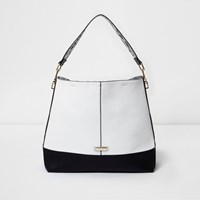 River Island Womens Black And White Slouch Bag