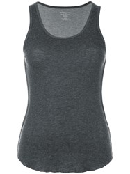 Majestic Filatures Exposed Seam Knitted Tank Top Grey
