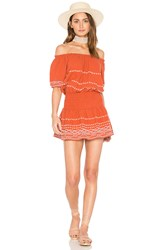 Piper Butan Dress Burnt Orange