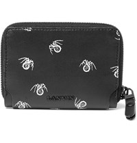 Lanvin Spider Print Leather Wallet Black