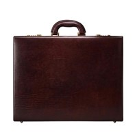 Maxwell Scott Bags S Italian Crafted Brown Leather Attache Case