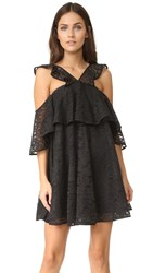 Cynthia Rowley Lace Trapeze Dress Black