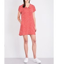 Esprit X Opening Ceremony Peter Pan Collar Floral Print Woven Dress Red