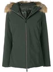 Rrd Faux Fur Trimmed Hood Jacket Green