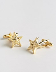 Asos Star Cufflinks Gold