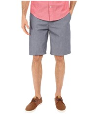 Dockers The Perfect Shorts Classic Flat Front Clarke A Chambray Faded Navy Men's Shorts Gray