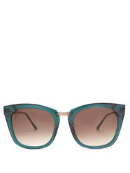 Thierry Lasry Narcissy Cat Eye Sunglasses Blue