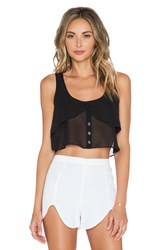 Bcbgeneration Flowy Button Up Top Black