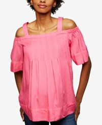 A Pea In The Pod Maternity Off Shoulder Blouse Pink