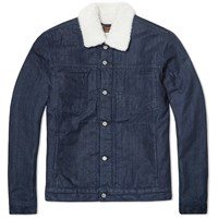Edwin Pan Denim Jacket Blue Rinsed