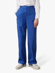 e72602989364 Toast Cotton Workwear Trousers Cobalt