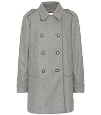 Red Valentino Wool Blend Coat Grey