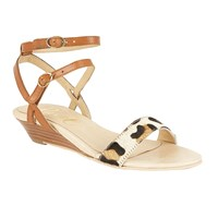 Ravel Fremont Low Wedge Sandals Tan