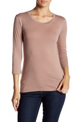 Susina 3 4 Length Sleeve Tee Petite Brown