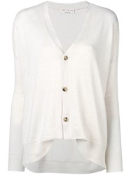 Ma'ry'ya Loose Fit Cardigan White