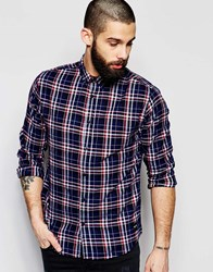 Only And Sons Flannel Tartan Shirt Blue
