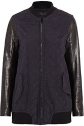 Rag And Bone Pacific Quilted Silk And Leather Jacket