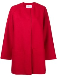 Harris Wharf London Loose Fitted Coat Red