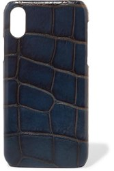 The Case Factory Croc Effect Leather Iphone X Navy