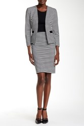 Nine West Striped Ponte Skirt Multi