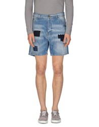 Yes London Denim Denim Bermudas Men Blue