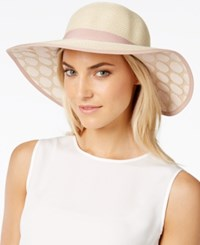 Collection Xiix Lace Polka Dot Petal Floppy Hat Sandstone