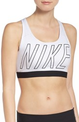 Nike Women's Pro Classic Sports Bra White Black Black