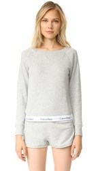 Calvin Klein Underwear Modern Cotton Long Sleeve Sweatshirt Grey Heather