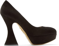 Charlotte Olympia Black Suede This Is Not A Shoe Heels