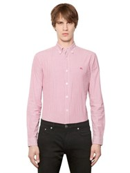 Burberry Striped Stretch Cotton Poplin Shirt