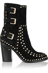 Laurence Dacade Gehry Studded Suede Ankle Boots Black