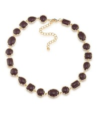 1St And Gorgeous Cabochon Stone Collar Necklace Maroon