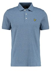 Lyle And Scott Polo Shirt Blue Steel Blue Grey