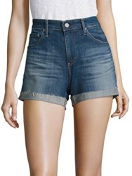 Ag Jeans Hailey Slouchy Cuffed Denim Shorts 10 Years Dispatch