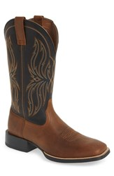 Ariat Sport Rustler Cowboy Boot Brute Brown Tack Black