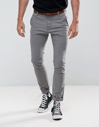 Tom Tailor Skinny Chino With Belt 2801 Grey