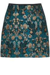 Oasis Warner Jacquard Mini Skirt Multi Coloured Multi Coloured