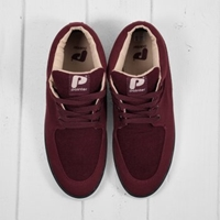 Pointer Mathieson Burgundy Mid Top Trainers At Denim Geek