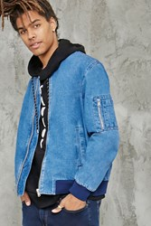 Forever 21 Denim Bomber Jacket