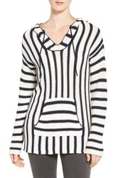 Vince Camuto Women's Two By Stripe Cotton Blend Hoodie