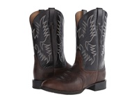 Ariat Heritage Stockman Wicker Shiny Black Cowboy Boots Brown
