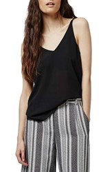 Topshop Women's Double Strap V Back Camisole